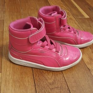 Girls Puma High Top Sneakers Size 13